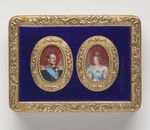 Snuffbox with Miniatures of Nicholas I and Alexandra Fedorovna