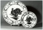 """BREAD AND BUTTER PLATE FROM THE """"TURKEY SERVICE"""" (SERVITO CON TACCHINO), ONE OF 24"""