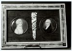 FRAME WITH TWO MINIATURES