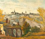 Blick auf die Stadt Luxemburg (View of the City of Luxembourg)